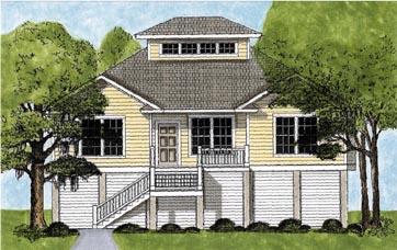 Coastal House Plan 45631 Elevation