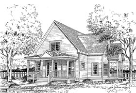 House Plan 45634 | Style Plan with 1660 Sq Ft, 4 Bedrooms, 3 Bathrooms Elevation
