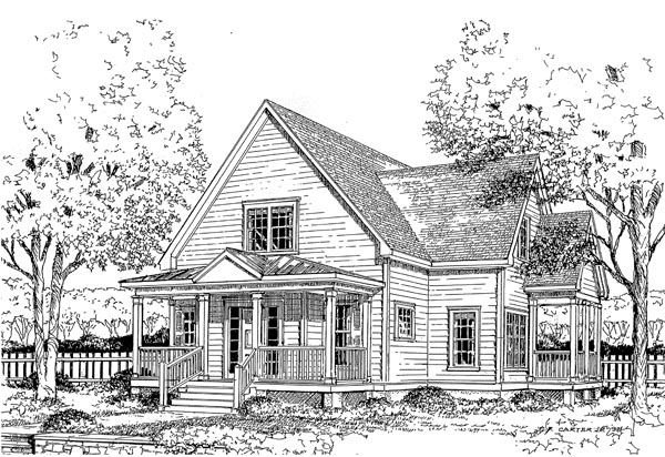 House Plan 45634 Elevation