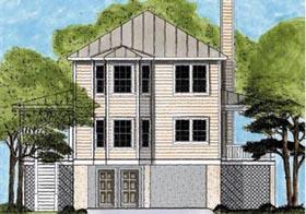Coastal House Plan 45636 Elevation