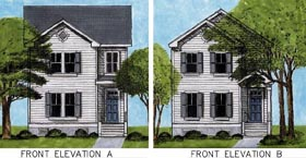 House Plan 45638 Elevation