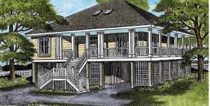 Coastal House Plan 45639 Elevation