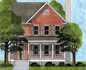 House Plan 45640 | Country Southern Style Plan with 1972 Sq Ft, 4 Bedrooms, 4 Bathrooms Elevation