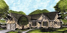 House Plan 45643 | Ranch Style Plan with 2132 Sq Ft, 3 Bedrooms, 3 Bathrooms, 2 Car Garage Elevation