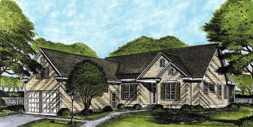 Ranch House Plan 45643 Elevation