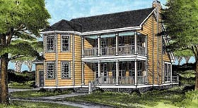 Country Southern House Plan 45646 Elevation