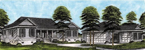 Traditional House Plan 45648 Elevation