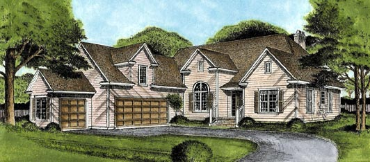 Traditional House Plan 45650 Elevation