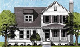 Traditional , Country House Plan 45651 with 3 Beds, 4 Baths Elevation