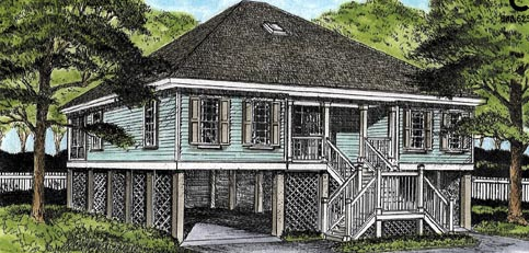 Coastal House Plan 45653 Elevation