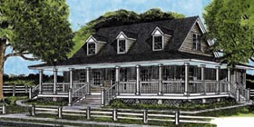 Country Farmhouse House Plan 45654 Elevation