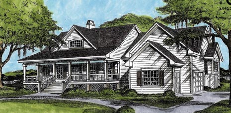 Country House Plan 45655 Elevation