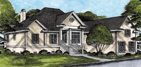 European House Plan 45664 Elevation
