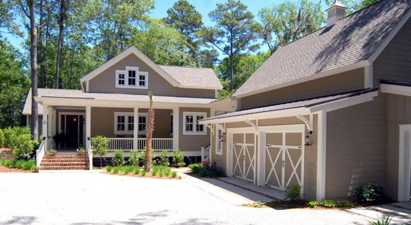 Country , Southern House Plan 45666 with 2 Beds, 3 Baths, 2 Car Garage Elevation
