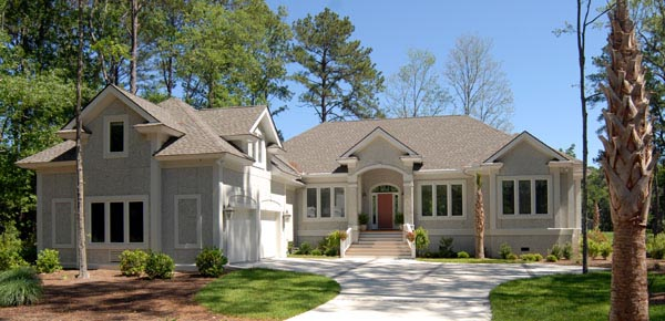 House Plan 45667 with 3 Beds, 3 Baths, 2 Car Garage Elevation
