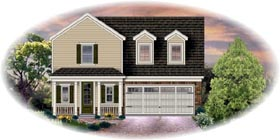 House Plan 45700 | Traditional Style Plan with 2113 Sq Ft, 3 Bedrooms, 3 Bathrooms, 2 Car Garage Elevation