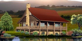 Traditional House Plan 45703 with 2 Beds, 3 Baths Elevation