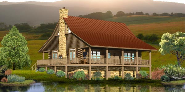 Traditional House Plan 45703 Elevation