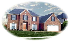 House Plan 45708 | Traditional Style Plan with 3151 Sq Ft, 4 Bedrooms, 3 Bathrooms, 2 Car Garage Elevation