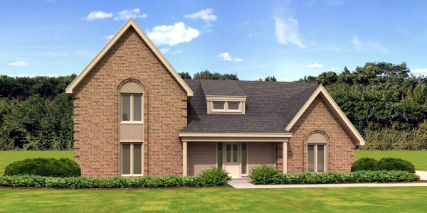 Colonial Elevation of Plan 45714