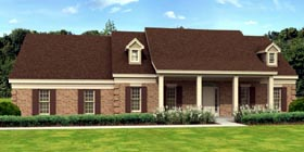 Traditional House Plan 45715 with 3 Beds, 4 Baths, 2 Car Garage Elevation