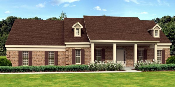 Traditional House Plan 45715 Elevation