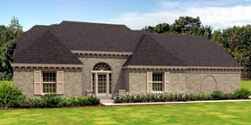 Traditional , European House Plan 45719 with 5 Beds, 3 Baths, 2 Car Garage Elevation