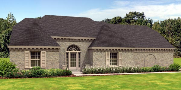 European Traditional House Plan 45719 Elevation