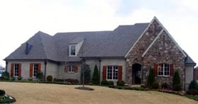 Country , European House Plan 45720 with 3 Beds, 3 Baths, 2 Car Garage Elevation