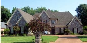 European House Plan 45730 with 4 Beds, 4 Baths, 3 Car Garage Elevation