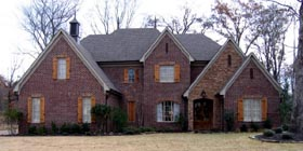 Country , European House Plan 45738 with 4 Beds, 5 Baths, 3 Car Garage Elevation