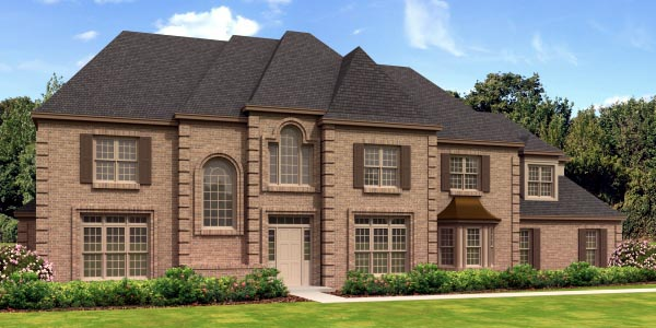 European House Plan 45739 Elevation