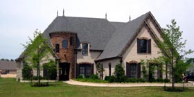 European , Country House Plan 45741 with 5 Beds, 5 Baths, 3 Car Garage Elevation