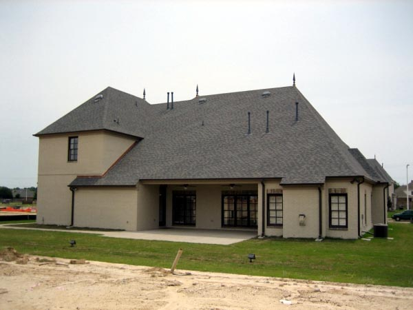 Country European House Plan 45744 Rear Elevation