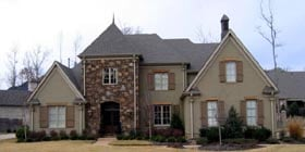 Country European House Plan 45757 Elevation