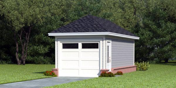 1 Car Garage Plan 45767 Elevation