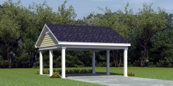 2 Car Garage Plan 45771 Elevation