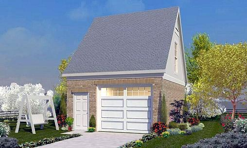 Garage Plan 45772 Elevation