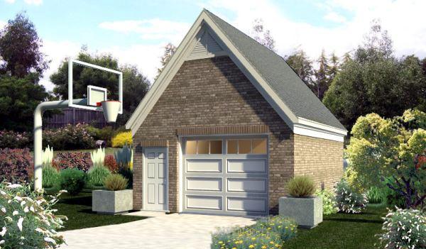 Garage Plan 45773 | Style Plan, 1 Car Garage Elevation