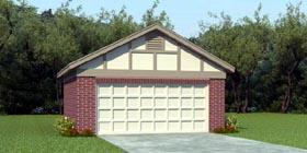 Garage Plan 45775 | European Traditional Style Plan, 2 Car Garage Elevation