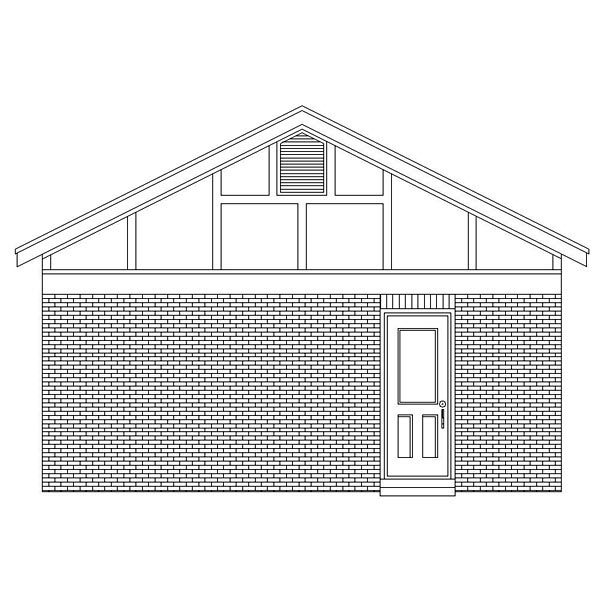 European Traditional Garage Plan 45775 Rear Elevation