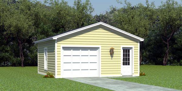 Traditional Garage Plan 45778 Elevation