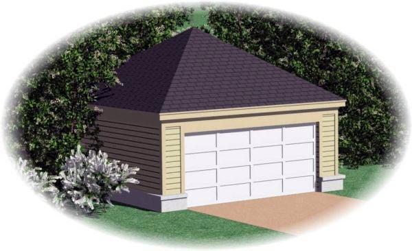 Garage Plan 45780 | Style Plan, 2 Car Garage Elevation