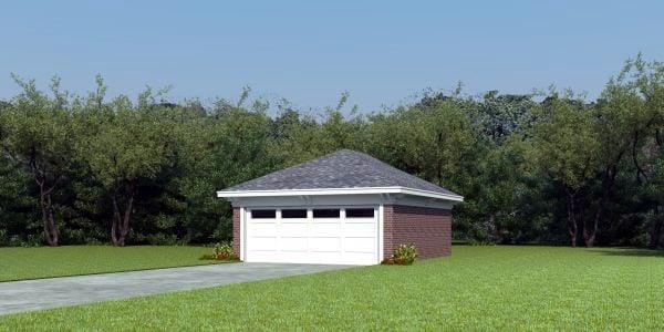 Garage Plan 45783 Elevation