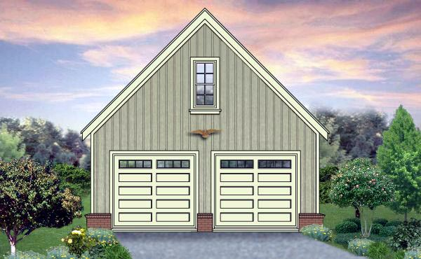2 Car Garage Plan 45789 Elevation