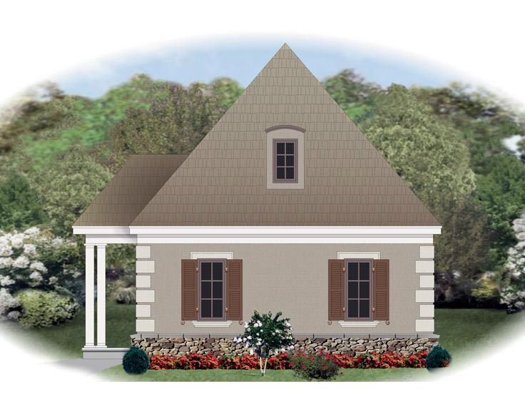 European Garage Plan 45796 Elevation