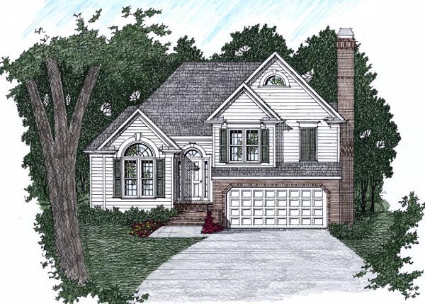 Traditional House Plan 45813 Elevation