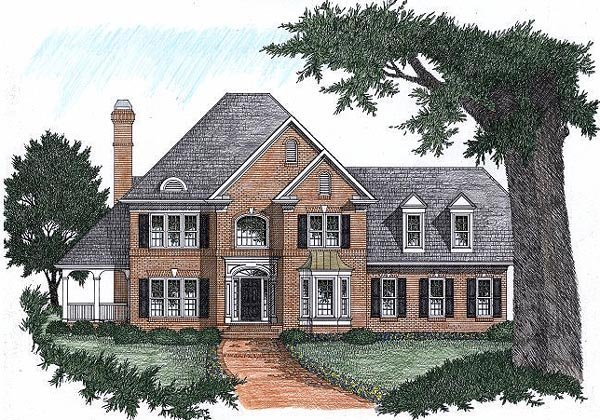 Traditional Elevation of Plan 45845