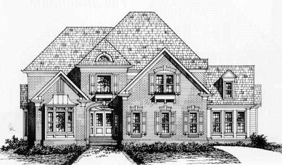Traditional Elevation of Plan 45847