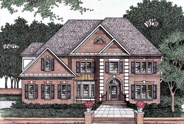 Traditional Elevation of Plan 45848